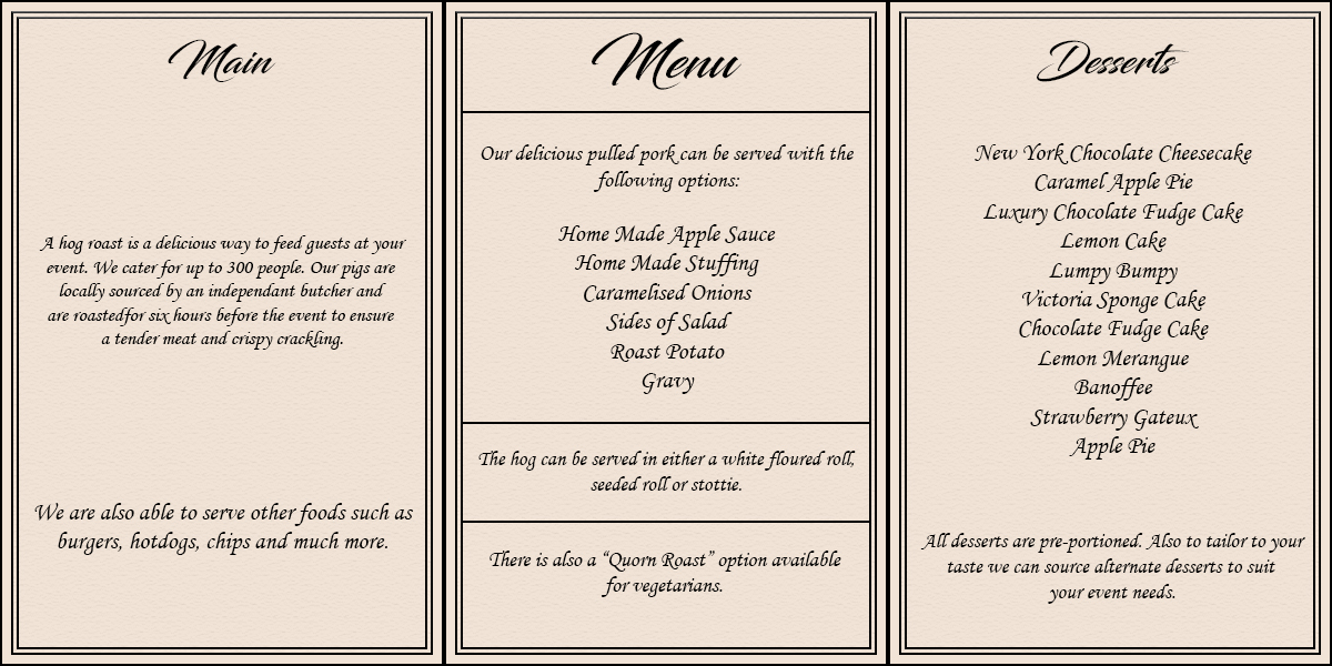 Menu NEW USE THIS FOR WEBSITE