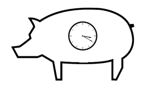 Pig With Clock